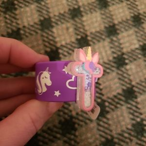 5/$10 NEW Justice Initial T Unicorn Snap B…